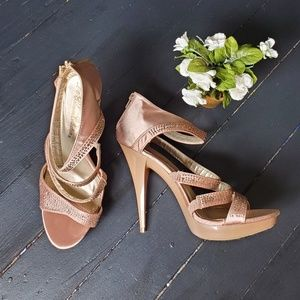 De Blossom Collection Champagne Heels